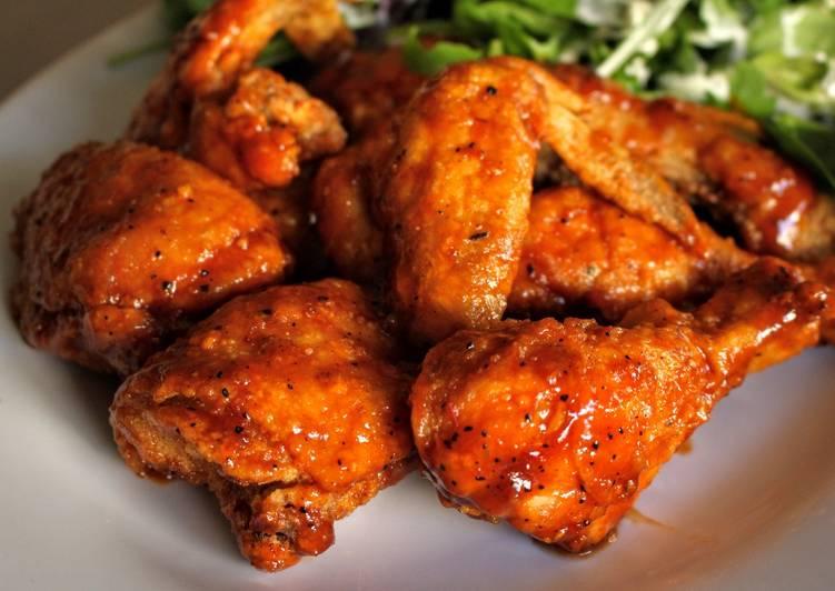 Fried whole chicken wings