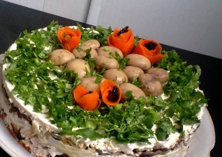 Салат с копчёной курицей и шампиньонами рекомендации