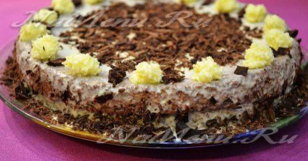 Торт бисквитный рецепт со сгущенкой в домашних  308