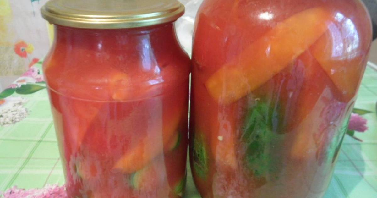 Перец в томатном соке в домашних условиях на зиму