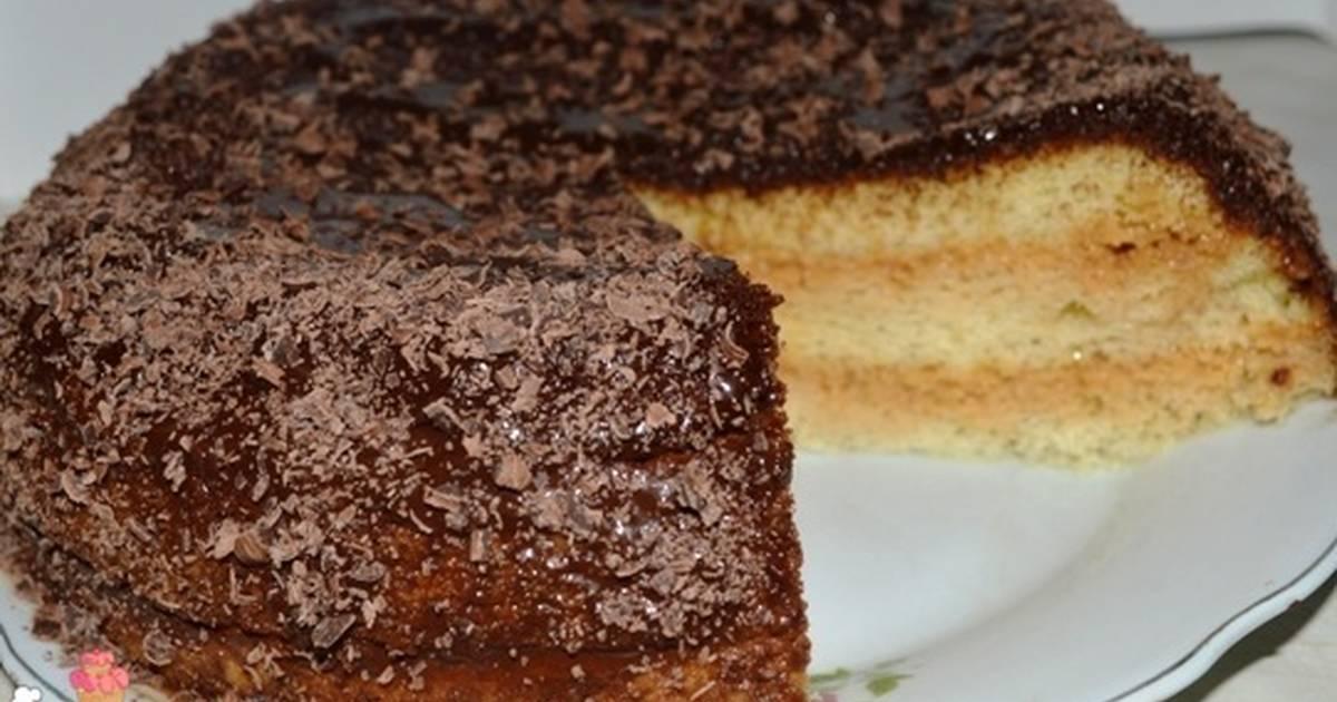 Торт бисквитный рецепт со сгущенкой в домашних  265
