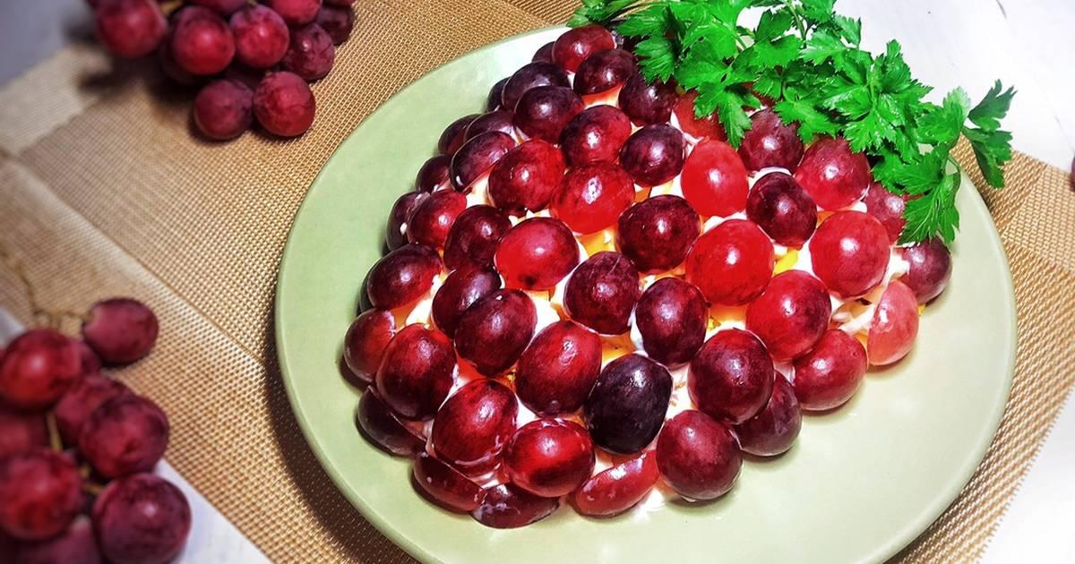 Новогодний салат Гроздь винограда с курицей