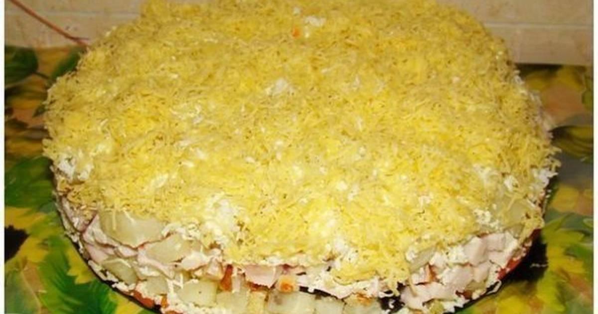Салаты с копчёным окорочком рецепты с простые и вкусные рецепты
