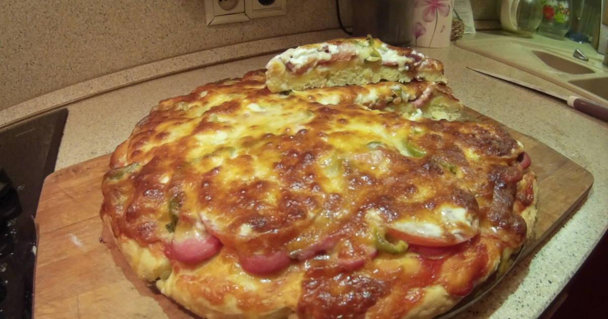 Пицца своими руками без дрожжей в духовке 386