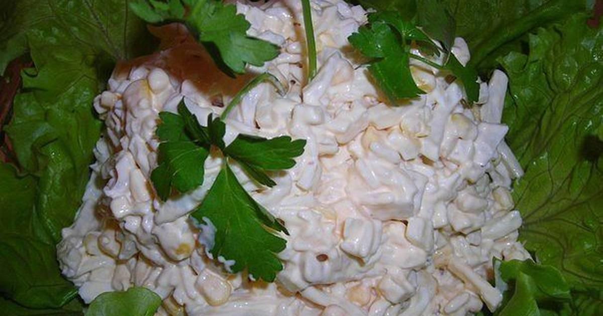 Салат из кальмаров и плавленного сыра рецепт очень вкусный 96
