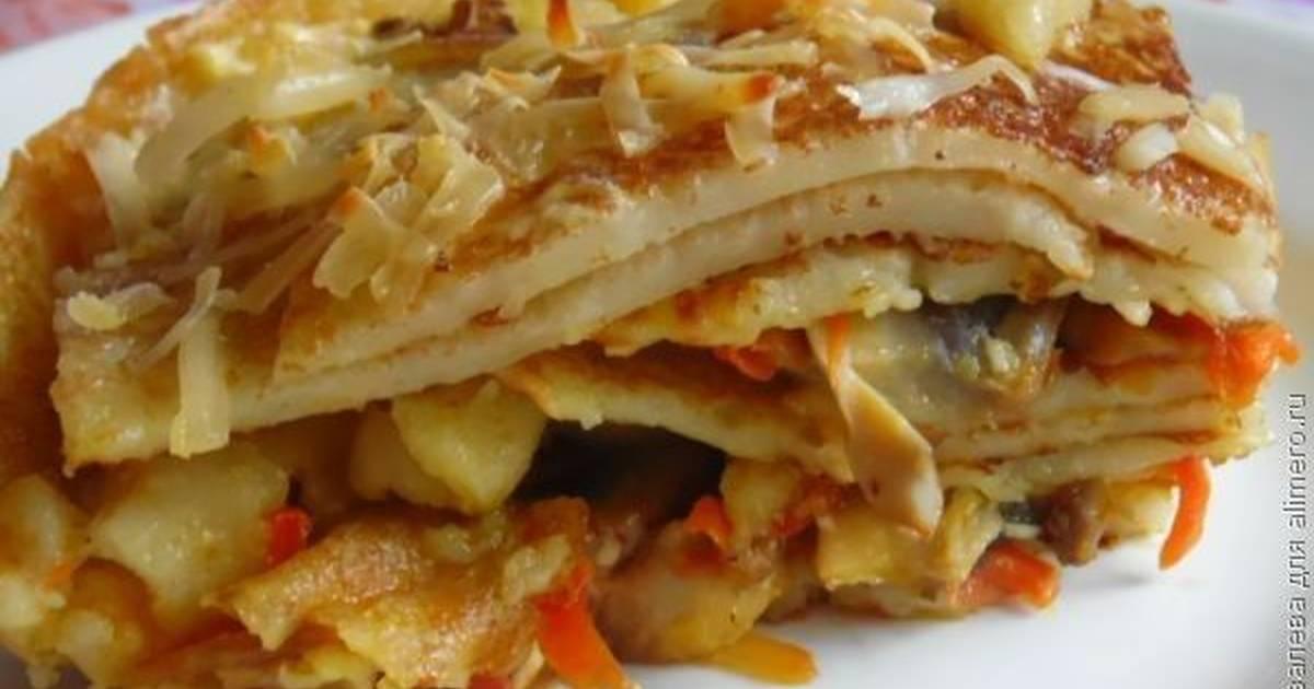 Лазанья с грибами и курицей - пошаговый рецепт с фото
