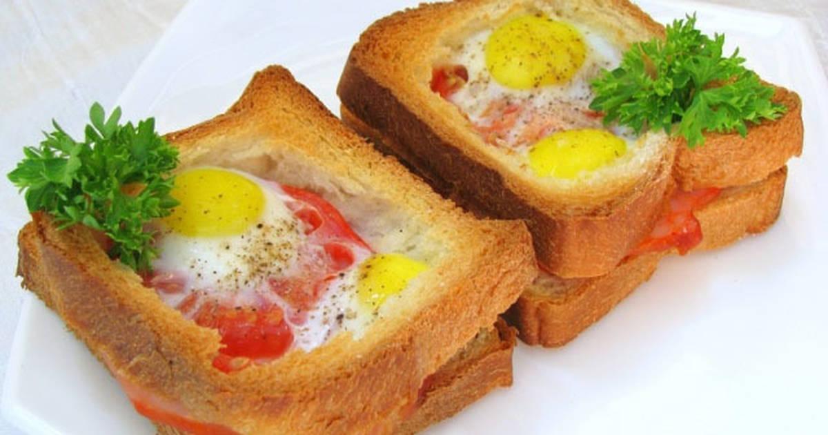 Как сделать бутерброд с яйцами 580