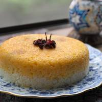 Persian upside down rice (Tahchin-e Morgh)