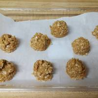 No bake peanut butter & oat dog treats