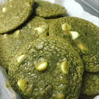 Matcha Green Tea and White Chocolate Cookies