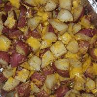Cheesy Italian Herb Roasted Red Potatoes