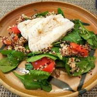 Cod with quinoa salad