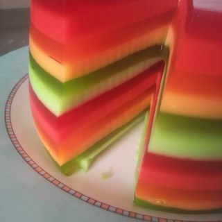 Cooksnap for rainbow jello shot cake