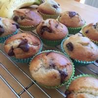 Vickys Chocolate Chip Banana Muffins, GF DF EF SF NF