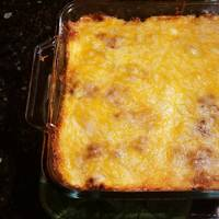 Low Carb chili cheese coney casserole