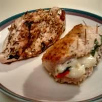 Panko Crusted Chicken Stuffed W/ Ricotta, Spinach, Tomato & Basil ...