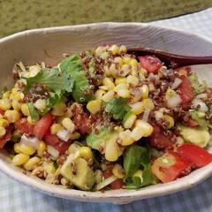 Cooksnap for red quinoa-avocado salad