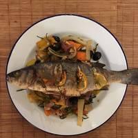 Roast seabass