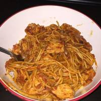 15 Minute Chicken Pasta in a Garlic Tomato Sauce
