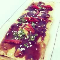 Korean Style Fried Tofu with Chili Garlic Soy Sauce