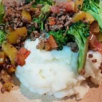 Ground beef and mash