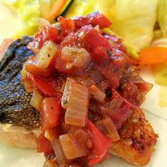 Cooksnap for Pan-Roasted Salmon with Tomato Relish