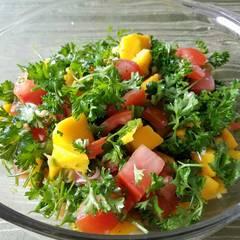Cooksnap for Hot mango salad