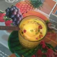 Mango shake with ice cream