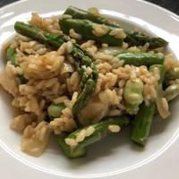 Broad Bean and Asparagus Risotto with Slow Roasted Tomatoes
