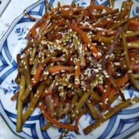 Kinpira Gobo (Spicy Burdock Root and Carrot Stir-fry)