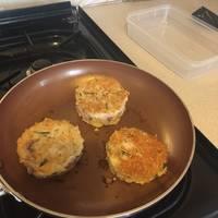Chicken-cheese pancakes
