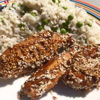 Japanese Teriyaki Chicken with pepper and sesame