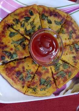 Mix dal & methi pan handva (savoury methi pan cake)