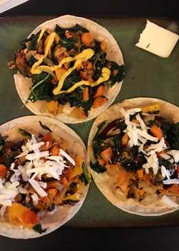 Bacon, Kale and Sweet Potato Tacos