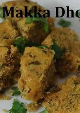 Rajasthani Makka/Corn/Maize Dhokla Recipe - Winter recipe