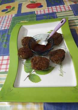 Black gram (kala chana) & green moong sprout kabab