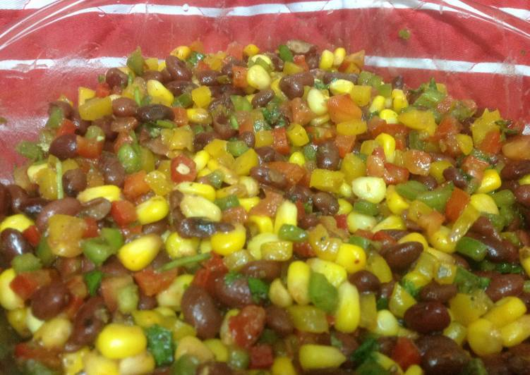 Mexican corn and bean salad Recipe by Supriya Unni Nair