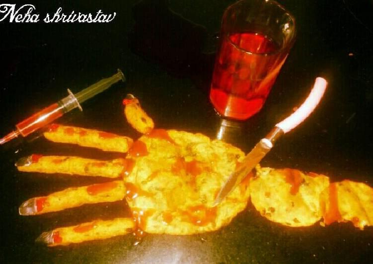 Bloody hand Recipe by Neha Shrivastava - Cookpad India
