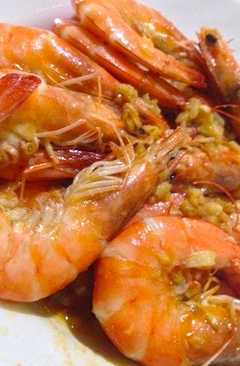 resep masakan garlic butter shrimps lchf keto