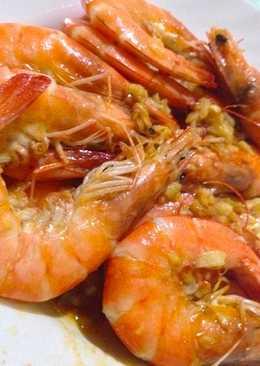 resep masakan garlic butter shrimps lchf keto