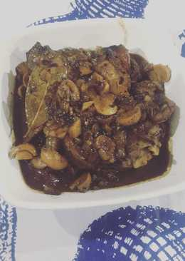 Pork Adobo w Mushrooms