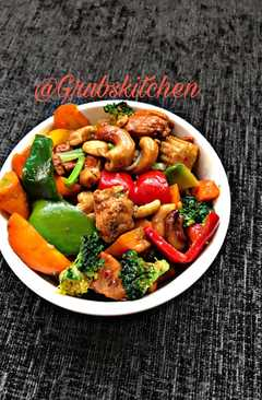 resep masakan thai chicken and vegetable spicy stir fry