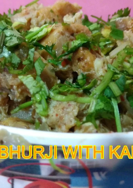 Egg bhurji with kabab