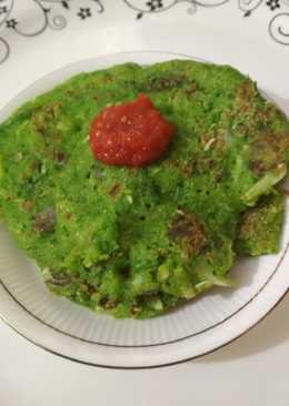 Moong palak chilla