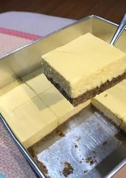Baked Tofu Cheesecake with Oat Crust