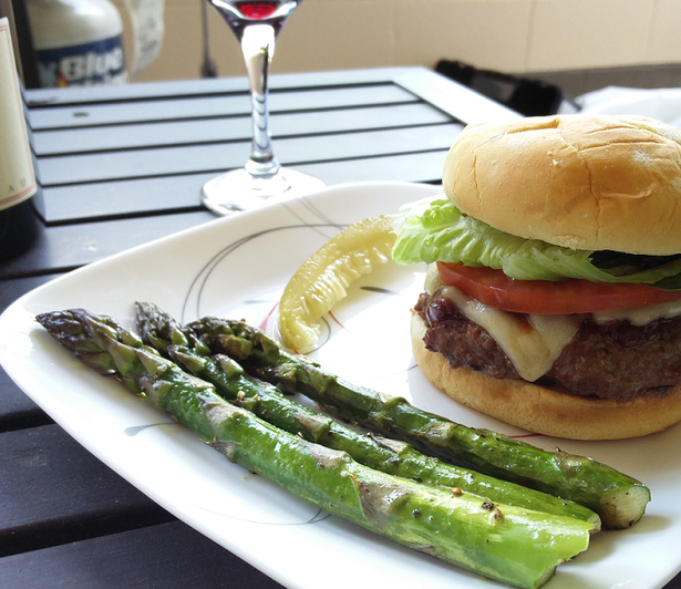 Juicy Lucy with Whiskey Grilled Onions