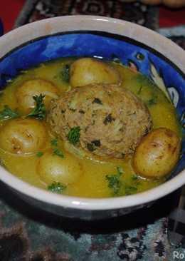 Kufteh bozbash (stuffed meatball)