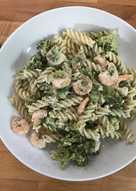 Prawn & Broccoli pasta with Feta cheese sauce