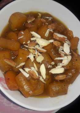 Sweet potato in jaggery