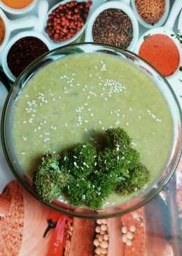 Broccoli with Sesame Seeds Soup